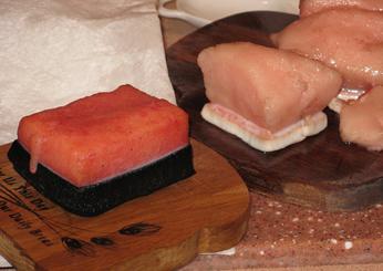 'Muktuk' Whaleskin, fresh from Kenai Peninsula, Soldotna, Alaska.